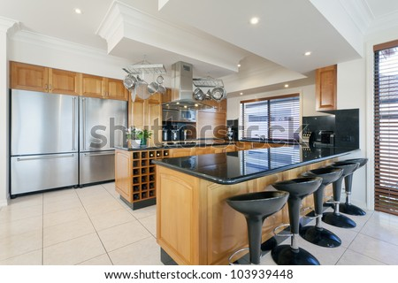 Stylish kitchen in luxurious house