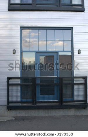 stylish loft entrance - stock photo