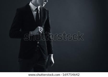 Stylish Man In An Elegant Suit.