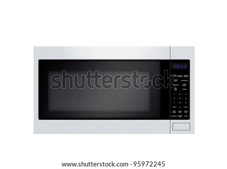 stylish microwave oven isolated on white background