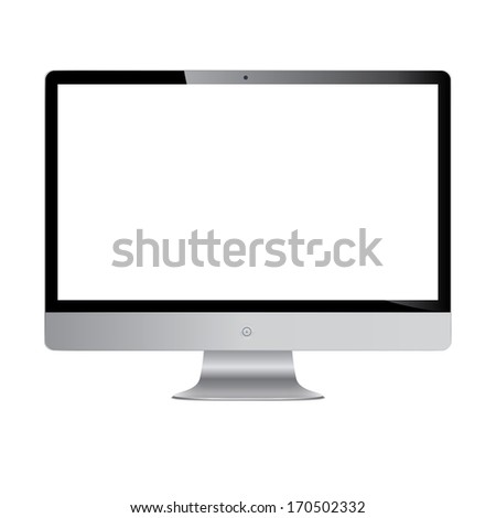 stylish modern monitor with a large screen