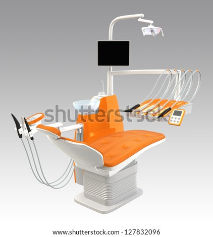 stylish orange dental unit