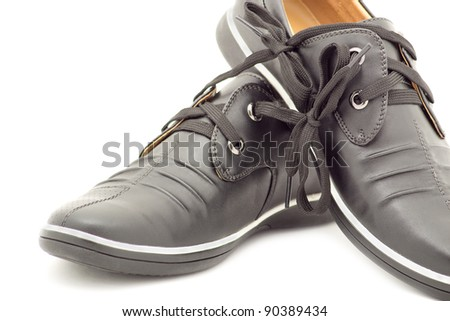stylish pair of shoes for men on a white background
