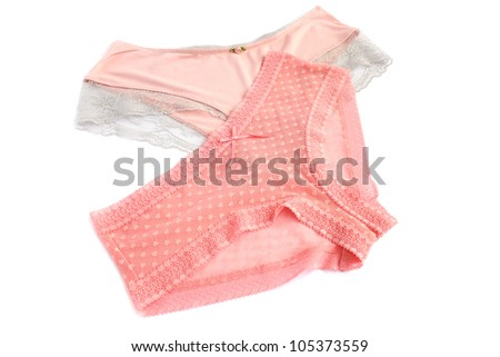 Stylish panties isolated on white background.