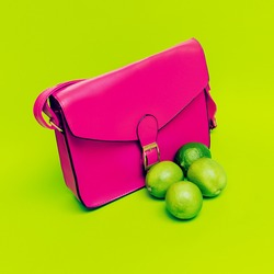 Stylish Pink Ladies Bag.  Love bright colors.