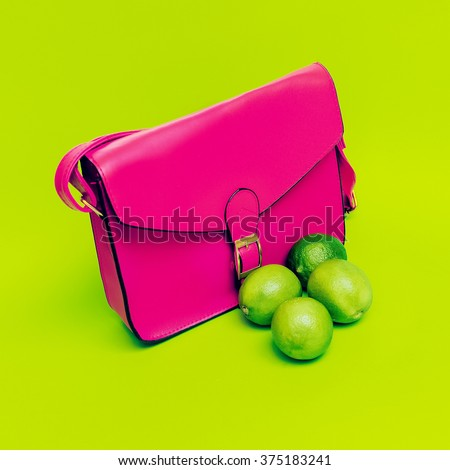 Stylish Pink Ladies Bag.  Love bright colors.