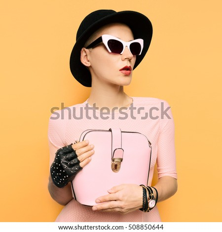 stylish retro lady fashion...
