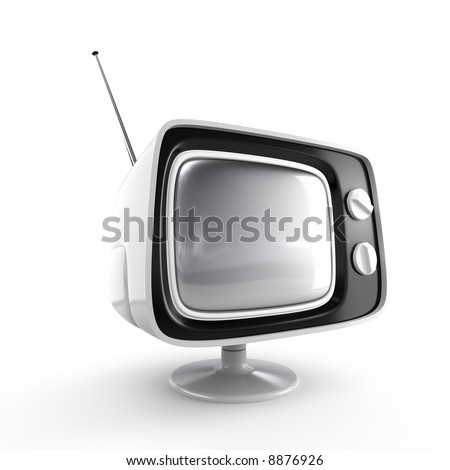 Stylish retro TV - white edition. More TV in my portfolio.