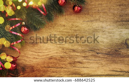 stylish rustic christmas background - Rustic Christmas Background