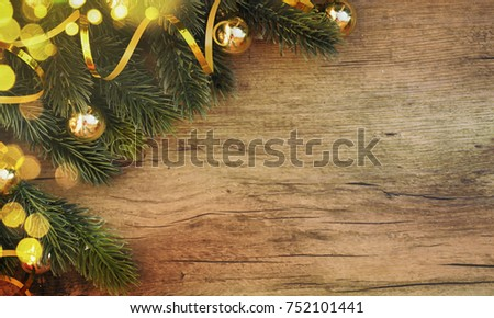 Stylish rustic Christmas background #752101441