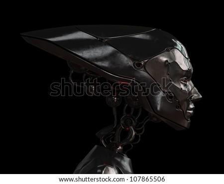 Stylish steel robotic head