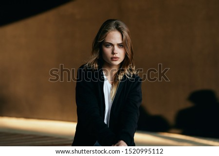 stylish stylish woman  looking at the camera