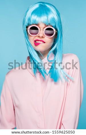 stylish stylish woman model in wig model
