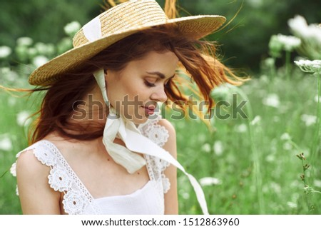 stylish stylish young woman in hat