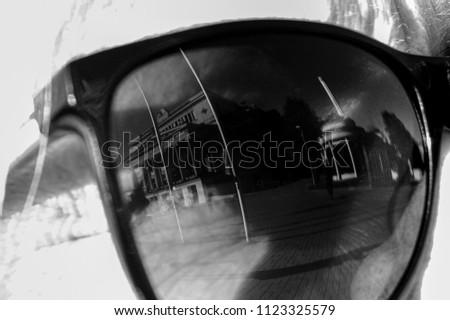 Stylish sunglasses in summer #1123325579