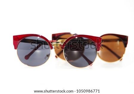 stylish sunglasses isolated on white background #1050986771