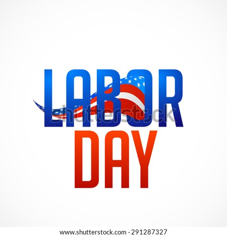 Stylish text Labor Day on abstract background.