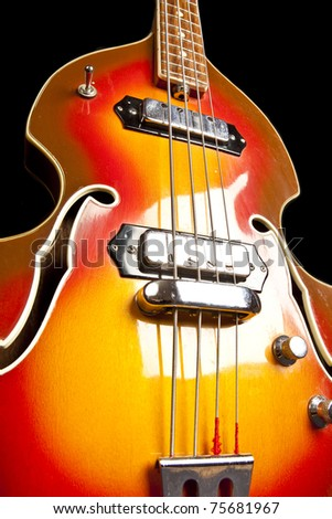 stylish vintage bass guitar