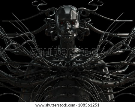 Stylish wired cyber man