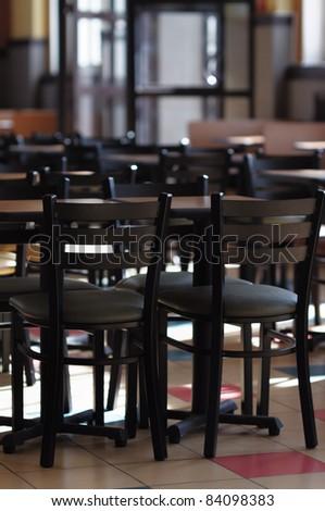 Stylish wooden cafe interior