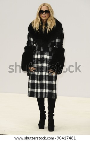 stylist, Rachel Zoe arrives for the Burberry Prorsum SS'12 catwalk show in Kensington Gardens as part of London Fashion Week. 19/09/2011  Picture by Steve Vas/Featureflash