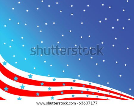 stylized american flag, abstract art illustration; for vector format please visit my gallery