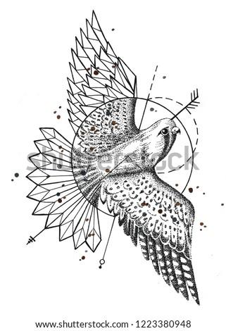Stylized bird for design #1223380948