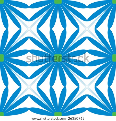 Geometric Flower Pattern Illustration - FeaturePics.com - A stock