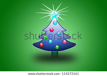 stylized Christmas tree on decorative background