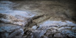 stylized grunge natural background and texture of stone and water