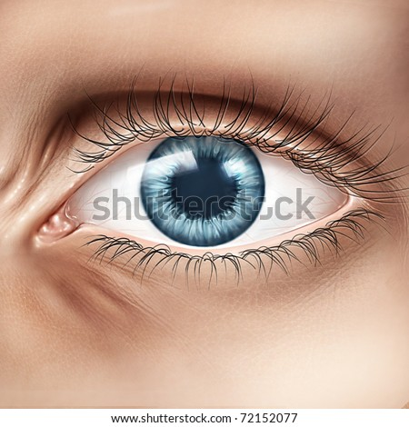 stylized human eye closeup