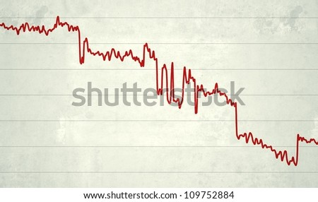 Stylized illustration of a line chart, referring to notions such as statistics, evolution, as well as financial figures or other data
