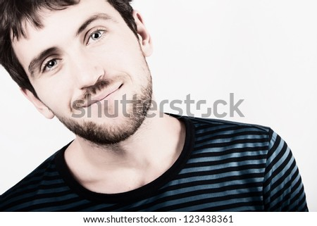 stylized man face isolated
