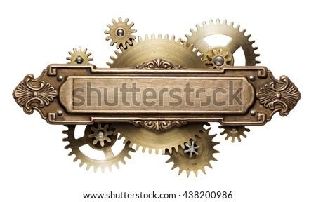 stylized mechanical steampunk...