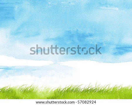 Stylized nature background using watercolour textures