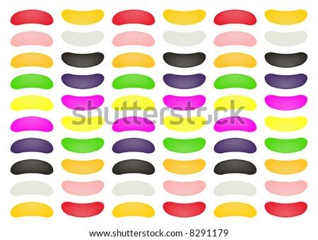 stylized rows of Jellybeans