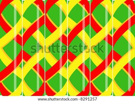 stylized striped hard rock candy
