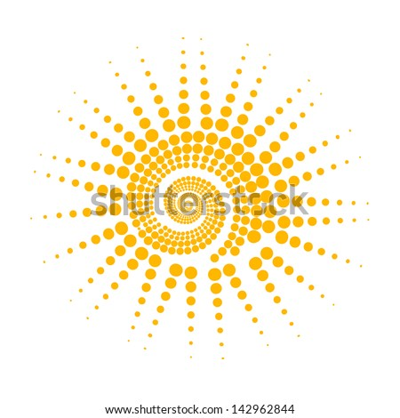 stylized sun. Raster