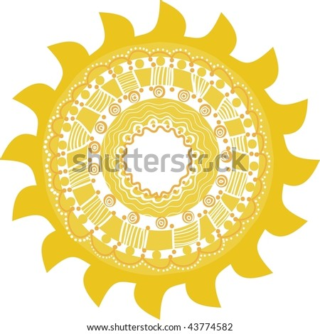 Stylized sun, symbol design