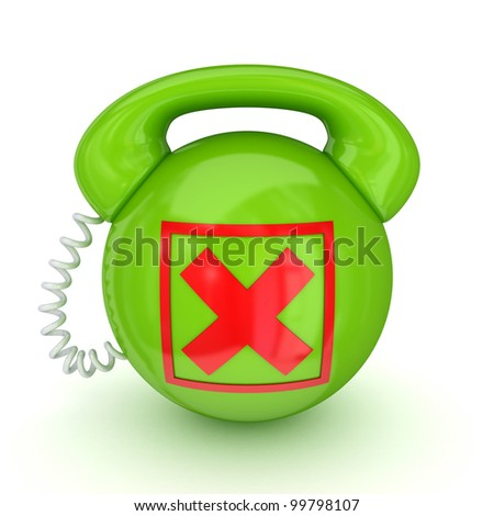 Stylized telephone.Isolated on white background.3d rendered.