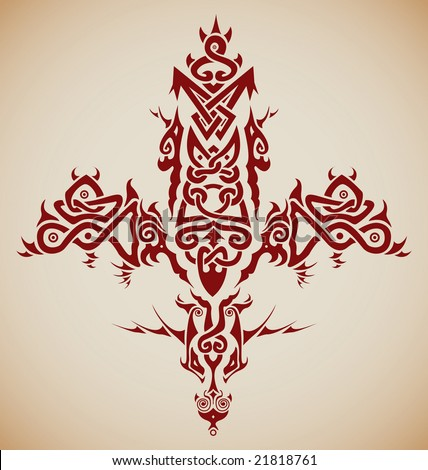 tribal cross tattoo designs. to make your Viking tattoo