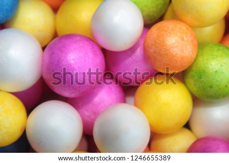 Styrofoam Balls, Wedding Decorative Polystyrene Spheres bubbles, Abstract spheres with colors #1246655389