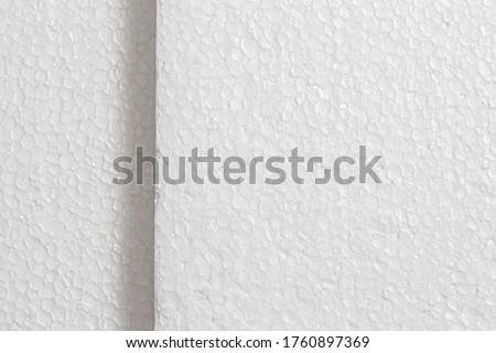 Styrofoam board ( placa de isopor ) in close-up. Texture and Backgrounds.  Foto stock ©