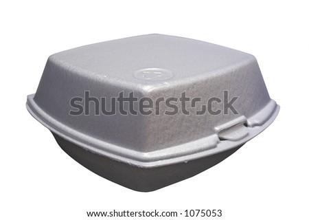 Styrofoam box for fast food