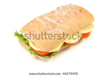 Sub sandwich with ciabatta
