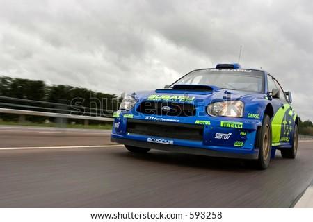 Subaru WRC Impreza 2005 Car - stock photo