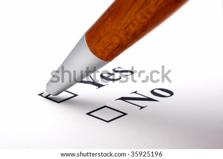 Subject: Voting Yes by checking the