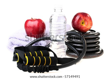 Subjects connected with a healthy way of life, sports, fruit, water.