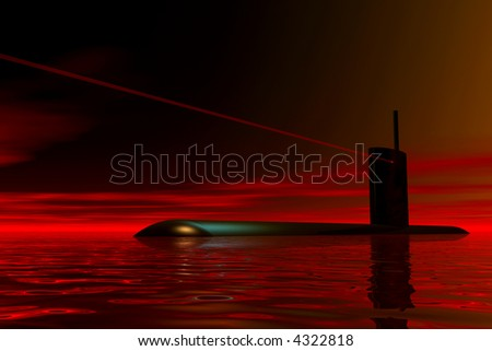 Submarine waiting for orders
