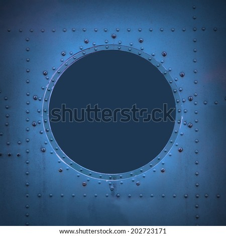 Submarine window with space for your text or picture.
